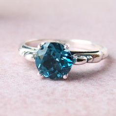 London Blue Topaz Sterling Silver Ring, Cavalier Creations.