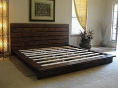 King bed from pallets! Okay!