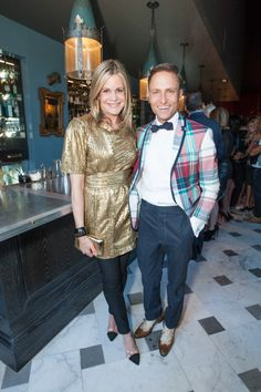 Mary Beth Shimmon and designer Ken Fulk at the opening of The Cavalier in San Francisco. Photo by Drew Altizer. - See more at: http://sfluxe.com/2013/08/05/the-cavalier-opens-on-jessie-street/