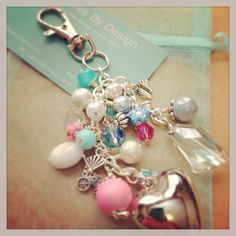 Purse FOB jewelry dangle baby shower gift by DanglesbyDesign