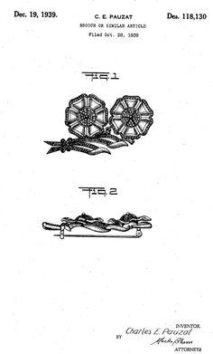 C.E.PAUZAT, 1939 No. 118,130 brooch