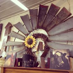 Old windmill for decoration in a country home. Western Style, Western Decor, Country Decor, Rustic Decor, Farmhouse Decor, Windmill Decor, Into The West, Western Homes, Shops