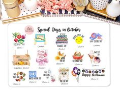 Special Days in October Wacky Holiday Stickers for by StiandCo Special Days In October, Printable Planner, Printables, Wacky Holidays, Calendar Stickers, National Days, Happiness Project, File Organization, Crazy People