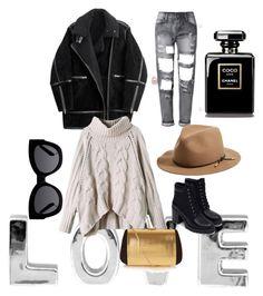 """Cold winter"" by chaimasugadollz on Polyvore featuring mode, H&M, rag & bone, Karen Walker, Zara, Nina Ricci, women's clothing, women's fashion, women et female"