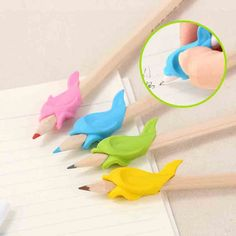 30pcs Fish Style Writing Posture Correction Children Pencil Students Hold a Pen Students Stationery Pencil Practise Device