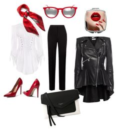 Классический  стиль by svetlanakorobicyna on Polyvore featuring polyvore fashion style Alexander McQueen Steve Madden Givenchy Ray-Ban Mulberry clothing