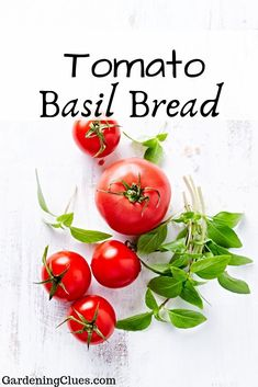 The smell of bread coming out of the oven would make anyone hungry. We've found the best tomato basil bread recipes for you! Tomato Basil Bread Recipe, Basil Pasta, Bread Recipes, Oven, Gardening, Vegetables, Food, Lawn And Garden, Essen