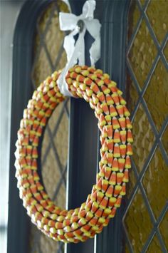 Candy Corn Wreath