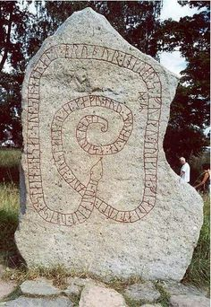 Dalecarlian runes inscribed in Södermanland, Sweden. Viking Life, Viking Art, Viking Runes, Vikings, Nordic Runes, Ancient Discoveries, The Legend Of Heroes, Rune Stones, Russian Culture