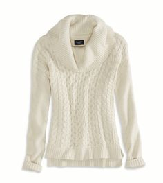 AE Real Soft Cabled Hi-Lo Sweater - Color: Rose - Size: either Small or Medium