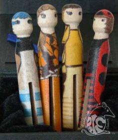 Australian Rainbow Pixies Purple, Pink, Blue, Pixies, Design Process, Wooden Toys, Rainbow, Illustration, Red