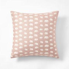 Cushion Elefant - 50x50 cm, Linen, Elefant, Light Pink, Estrid Ericson/Svenskt Tenn | Svenskt Tenn