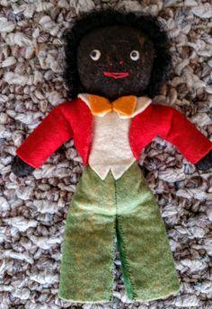 LArt populaire rare Golliwog poupée Vintage par PenelopesHopeChest