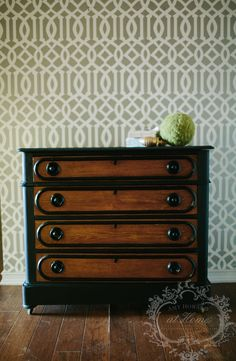 Step by step black dresser