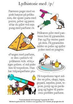 Fonemhistorie /p/ by sprogkiosken Teacher Pay Teachers, Teacher Newsletter, Sange, Kindergarten, Teen, Teaching, Danish, Batman, Dessert