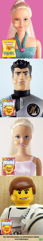 advertising set | Mini Chupa Chups Ad Campaign | Action Man / Star Wars / Sindy