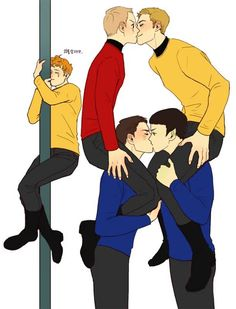Leonard H. McCoy, James T. Kirk, Montgomery Scott, Spock, Pavel Chekov || Star Trek AOS