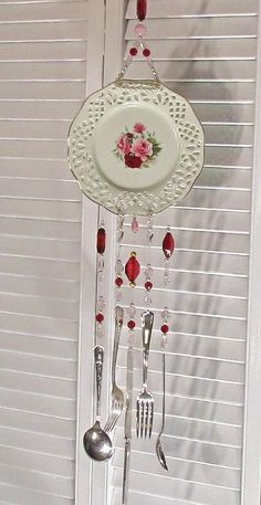 plate and utensils wind chime