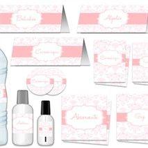 Toilet arabesco rosa e branco