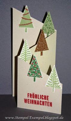 Stempel-Exempel: November 2014 Christmas Cards 2018, Christmas Card Crafts, Christmas Templates, Christmas Activities, Xmas Cards, Christmas Art, Diy Cards, Holiday Cards, Christmas Decorations
