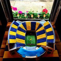 Stripe the Stadium groom's cake | Instagram photo by @Jonathan Nafarrete Bayless (Jonathan Bayless)