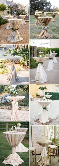 20 Perfect Wedding Cocktail Table Decoration Ideas for Your Big Day Oh Best Day. - 20 Perfect Wedding Cocktail Table Decoration Ideas for Your Big Day Oh Best Day Ever Hochzeit - Elegant Centerpieces, Wedding Centerpieces, Wedding Decorations, Table Decorations, Table Centerpieces, Cocktail Table Decor, Cocktail Tables, Cocktail Decoration, Summer Wedding Colors