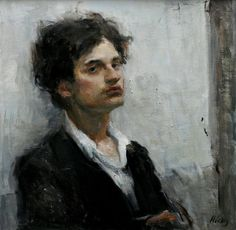Available for sale from Gallery 1261, Ron Hicks, Smooth Operator II (2013), Oil, 20 × 20 in