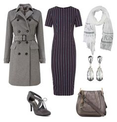 """""""Pin stripe"""" by kjmazeltov ❤ liked on Polyvore featuring Sportmax, Phase Eight, Impo, Chloé and Kenneth Jay Lane"""