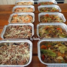 Marmitas para congelar By Paulinha                                                                                                                                                                                 Mais Freezer Meals, Easy Meals, Meal Planning, Food And Drink, Low Carb, Yummy Food, Diet, Vegan, Vegetables