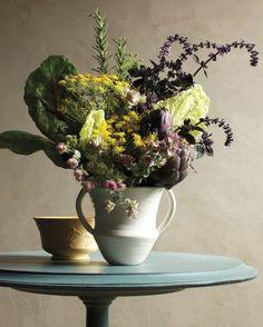 artichok, edible arrangements, fall flowers, fall flower arrangements, herb, garden bloom, gardens, kitchen garden, blossom