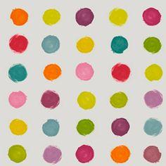 papel pintado lunares colores leroy merlin