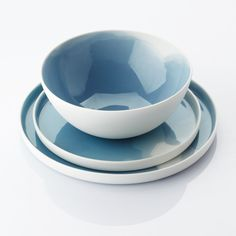Studio Pieter Stockmans blue and white tableware.