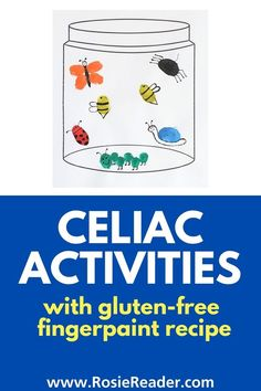 Need some celiac acticities to help your child understand celiac disease? Here's a thumbprint art project with a recipe for gluten free finger paint! Celiac Disease In Children, Reading Adventure, Gluten Free Snacks, Finger Painting, Crafts For Kids To Make, Valentines For Kids, Kids Christmas, Kids Meals, Activities For Kids