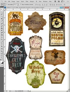 Image detail for -First, begin by choosing your desired labels and place them on a blank ...