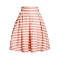 Amalfi Coral Striped Midi Skirt   Rumour London   Wolf & Badger, $195