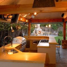 Outdoor Photos Outdoor Kitchens Patios Design Ideas, Pictures, Remodel, and Decor - page 30