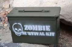 The Original Ammo Can Zombie Survival Kit made from Surplus Ammo Can Box. $39.99, via Etsy.