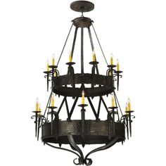 45 Inch W Costello 20 Lt Two Tier Chandelier - Custom Made