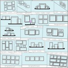 how to arrange pictures - Click image to find more Home Decor Pinterest pins