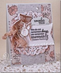 Card by Maureen Plut using Moments Remembered, Happy Place, Remember This and Calendar Countdown from Verve. #vervestamps
