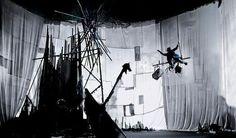 clear plastic tarp curtain scenography - Google-haku