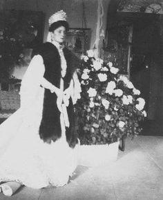 "Empress Alexandra Feodorovna of Russia at the Alexander Palace,Tsarskoe Selo.  ""AL"""