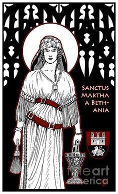 Saint Martha Print by Lawrence Klimecki
