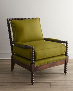 """Old Hickory Tannery """"Ellsworth"""" Spindle-Back Chair - Horchow"""