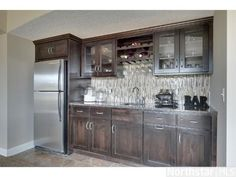 basement bar only with wine fridge and microwave somewhere
