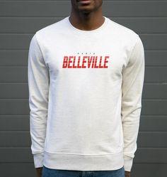 Sweat pour Homme Paris Belleville de couleur Beige chiné