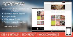 Serenity - Premium Wordpress eCommerce woocommerce Theme
