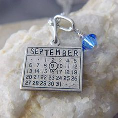 Calendar Necklace Personalized with Month and by WireNWhimsy