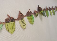 Paper chains made from newspaper. Thanks maya*made! Love it!