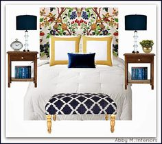 Abby M. Interiors: Floral Headboards for the Bold and Beautiful